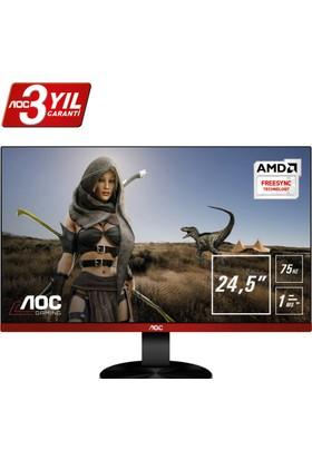 """AOC G2590VXQ 24.5"""" 75Hz 1ms (Analog+HDMI+Display) FreeSync Full HD Oyuncu Monitörü"""