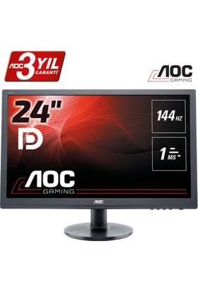 AOC G2460FQ 24'' 144 Hz 1ms (Analog+HDMI+DVI+Display) Fulll HD LED Monitör