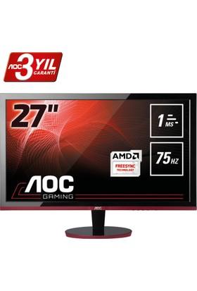 """AOC G2778VQ 27"""" 75 Hz 1ms (Analog+HDMI+Display) FreeSync Full HD Oyuncu Monitörü"""