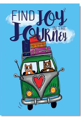 "Pulp Find Joy İn The Journey"" Tasarımlı Kartpostal"