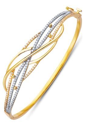 Allegrogold Ablz0042 Bilezik 8 Ayar Altın Zirkon Taşlı Kelepçe Bilezik