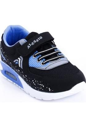 Alessio Siyah-Saks-Anorak Renk Çocuk Ayakkabı