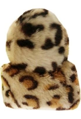 Bmpet Kedi Oyuncağı İkili Set Peluş Leopar Desenli Toplar 6 Ve 8 Cm