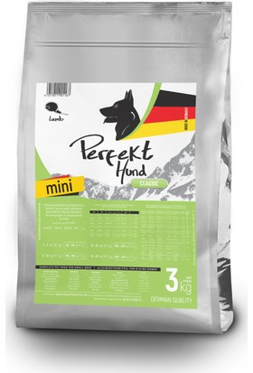 Perfekt Hund Mini Lamb, Kuzu Etli Küçük Irk Köpek Maması 3 kg