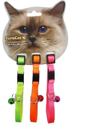 EuroCat Kedi Boyun Tasması Renkli10 mm 28 cm 3'lü