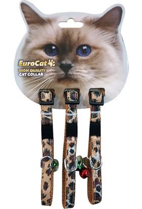 EuroCat Kedi Boyun Tasması Leopar Desenli 10 mm 28 cm 3'lü