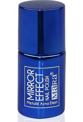 Mara Metalik Ayna Efektli Oje Parlament Mavi