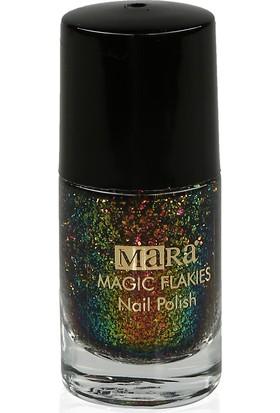 Mara Magic Flakies Oje Pink Gold Green