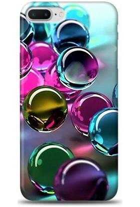 Dynamics iPhone 8 Plus Renkli Misketler Desenli Arka Esnek Kapak Kılıf