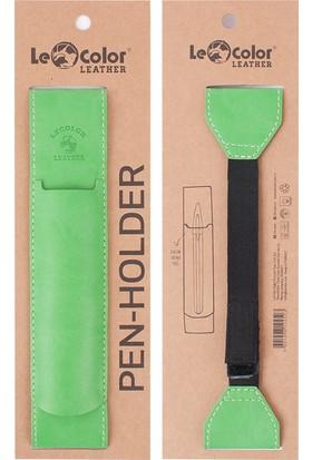 Le Color Leather Pen Holder Açık Yeşil