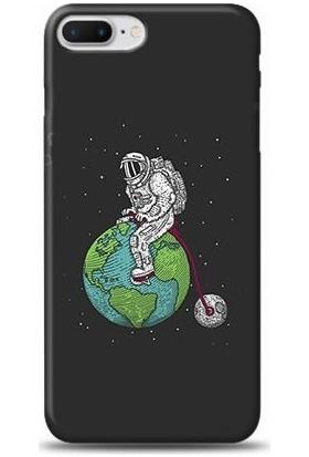 Dynamics iPhone 8 Plus Akrobat Astronot Desenli Arka Esnek Kapak Kılıf