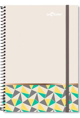 Le Color Pattern A4 Düz Sayfalı Defter Kum