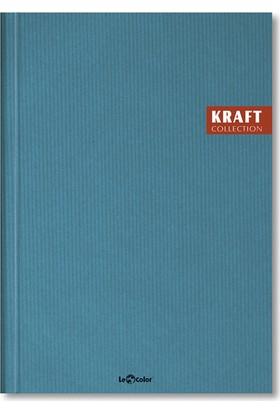 Le Color Kraft Ciltli 17 x 24 Kareli Defter Mavi