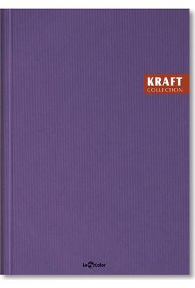 Le Color Kraft Ciltli 17 x 24 Kareli Defter Mor