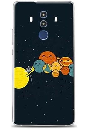 Dynamics Huawei Mate 10 Pro Güneş Sistemi Selfie Desenli Arka Esnek Kapak Kılıf