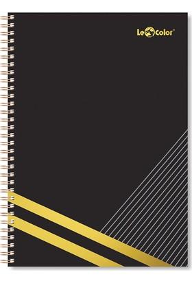 Le Color Blackgold A4 Kareli Defter Siyah