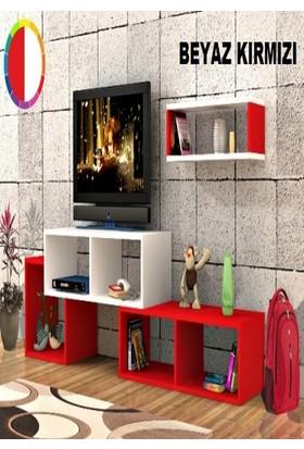 Rafline Armonia Tv Ünitesi Kırmızı