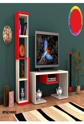 Rafline Bacio Tv Ünitesi Kırmızı
