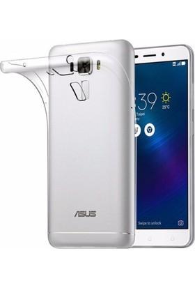 Case 4U Asus Zenfone 3 Laser ZC551KL Silikon Kılıf Şeffaf + Cam Ekran Koruyucu