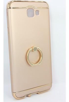 Case 4U Samsung Galaxy J5 Prime Yüzüklü Sert Arka Kapak Altın