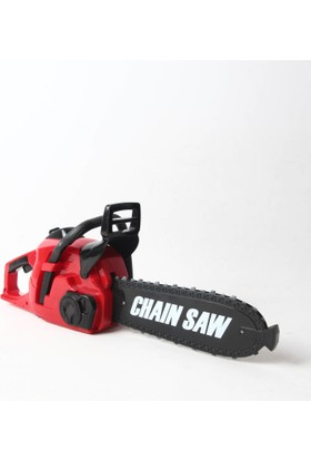 Ayaz Bebe Chaın Saw Oyuncak Ağaç Kesme Motoru Titreşimli Sesli 39 Cm Kırmızı