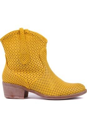 Sail Laker's Sarı Fermuarsız Kadın Yaz Botu