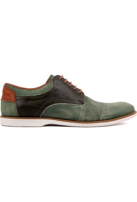 Sail Laker's Yeşil Deri Erkek Günlük Ayakkabı