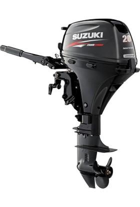 Suzuki 20 HP Uzun Şaft Marşlı Trimli 4 Zamanlı Deniz Motoru