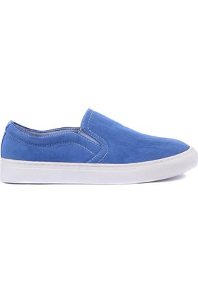 Moxee Mavi Keten Kadın Günlük Ayakkabı
