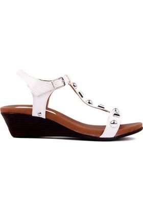 Moxee Beyaz Kadın Sandalet