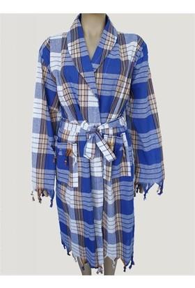 Bedinn Peştemal Bornoz Klasik Mavi