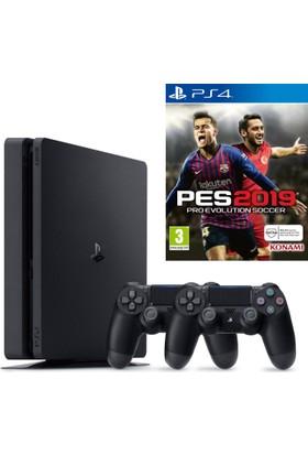 Sony PS4 Slim 1Tb Oyun Konsolu + 2. PS4 Kol + PS4 Pes 19
