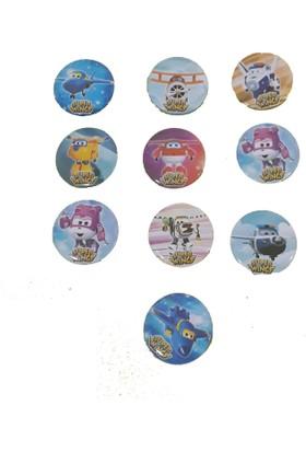 Balonpark 10 Ad Harika Kanatlar İğneli Parti Rozeti, Doğum Günü Hediyelik