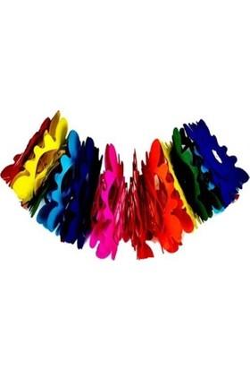 Balonpark 1 Adet Rengarenk Çiçekli Kağıt Uzar Süs Doğum Günü Parti Süsü