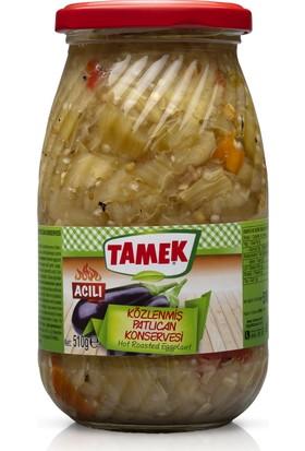 Tamek Acılı Közlenmiş Patlıcan 560 Cc ( 510 Gr )