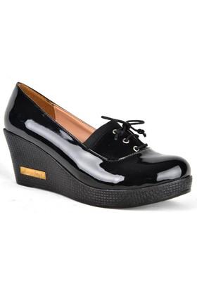 Kaplan D7586 Kadın Dolgu Topuk Bağcıklı Günlük Ayakkabı