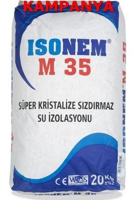 İsonem M 35 Süper Kristalize Su Sızdırmaz Yalıtım Malzemesi 20 Kg