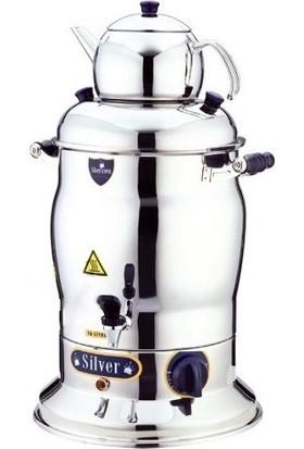 Silver Elektrikli Semaver 60 Bardaklık 7 Lt Çay Otomatı Makinesi