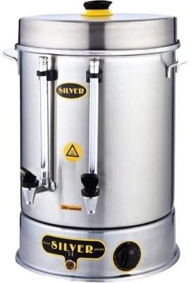 Silver Sanayi Tipi Çay Makinesi 60 Bardak Endüstriyel Çaymatik