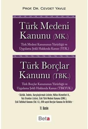 Türk Medeni Kanunu (MK.)-Türk Borçlar Kanunu (TBK) - Cevdet Yavuz