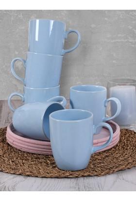 Keramika 6 Adet 9 Cm Bulut Kupa Buz Mavisi 405
