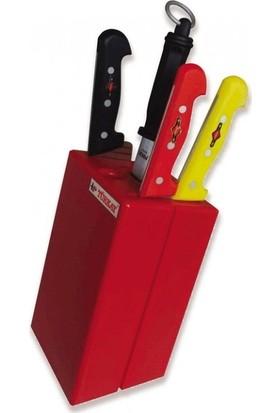 Polietilen Bıçak Kütüğü Büyük Kasap İşyeri Tip Bıçak Hazne