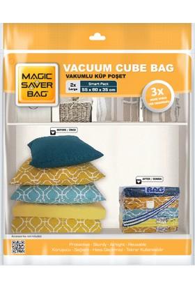 Magic Saver Bag 2'li Küp Vakumlu Poşet Seti (L)