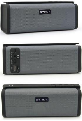 Syrox Radyolu Süper Bass Bluetooth Hoparlör SYX-S14 - Gri