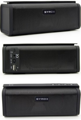 Syrox Radyolu Süper Bass Bluetooth Hoparlör SYX-S14 - Siyah