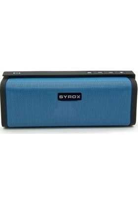 Syrox Radyolu Süper Bass Bluetooth Hoparlör SYX-S14 - Mavi