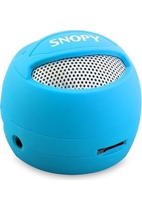 Snopy SN-304 Mavi Micro SD Hamburger Mini Speaker
