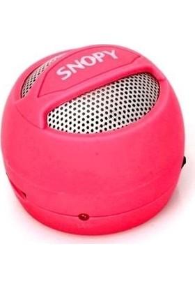 Snopy SN-304 Kırmızı Micro SD Hamburger Mini Speaker