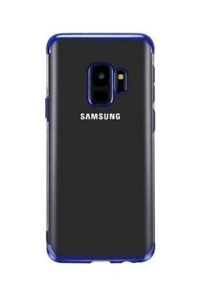 Teleplus Samsung Galaxy J8 Lüks Lazer Silikon Kılıf Mavi + Nano Ekran Koruyucu