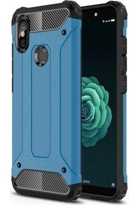 Teleplus Xiaomi Mi 6X Çift Katmanlı Tank Kapak Kılıf Mavi